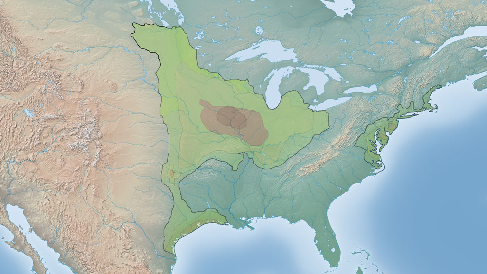 Greater Prairie Chicken Range Map